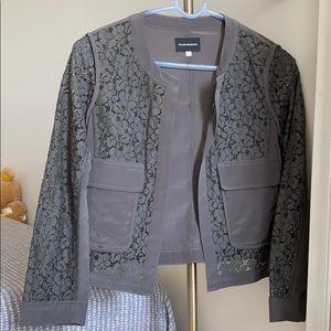 Club Monaco Silk & lace jacket